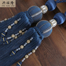 XWL 1Pair Beads Curtain Hanging Belts Window Curtain Accessories Strap Tassel Fringe Tiebacks Buckle Hanging Rope Bandage Bind