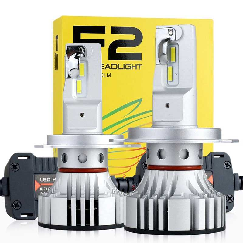 New 2Pcs F2 Car Headlight Led 72W 12000Lm Auto Bulb head light lamp 6500K Led Headlight Bulbs