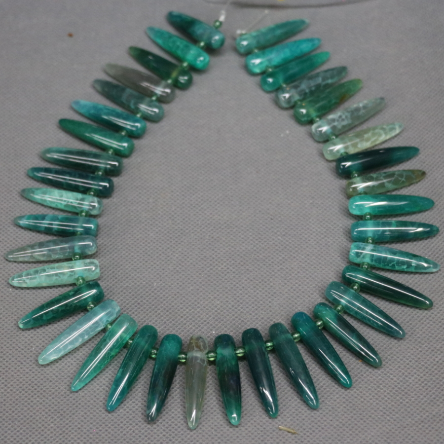 Full Strand Green Gems Stone Necklace Beads Pendant, Kindgems Charm Women Super Popularity European Fashion Jewelry