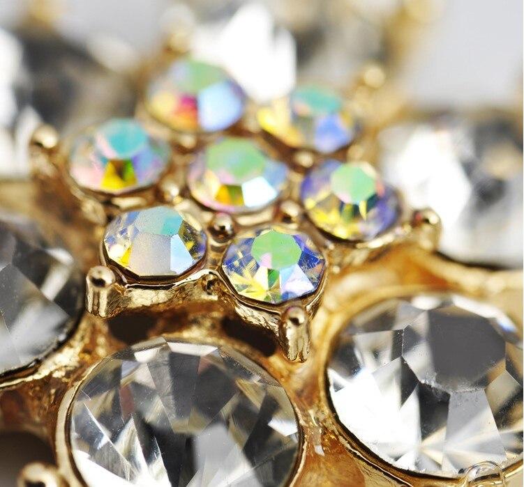 20 шт 24 мм Цветок Flatback прозрачный кристалл центральный цветные стразы кнопки золото для DIY browband аксессуары для свадебной прически