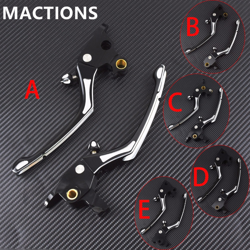 MACTIONS Motorcycle Brake Lever Clutch For Harley Sportster 883 1200 Iron XL Touring Road King Electra Street Trike Dyna Softail
