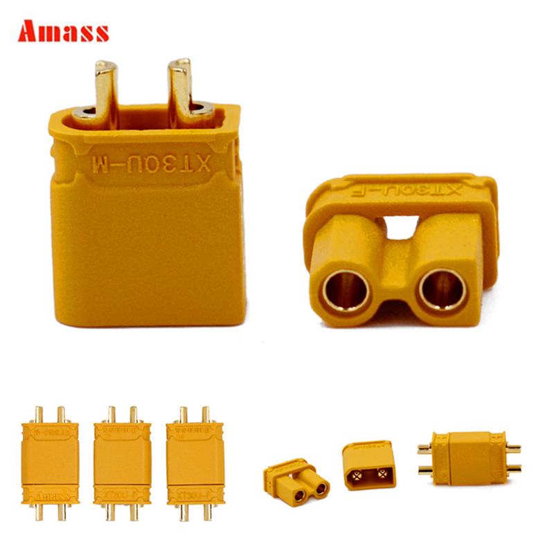 5pair XT30 XT30U Male Female Bullet Connectors Upgrade for For RC Lipo Battery RC Quadcopter Original Amass XT30 22% off5pair XT30 XT30U Male Female Bullet Connectors Upgrade for For RC Lipo Battery RC Quadcopter Original Amass XT30 22% off