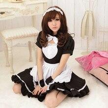 Maid dress sexy uniforme de mucama anime japonés traje de mucama negro trajes de cosplay japonés ropa de princesa dress del partido del festival