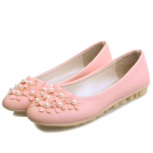 New 2015 Ladies Flats Shoes PU Leather Women Shose Zapatos Mujer Mocassin Sapatos Femininos Casual flowers Cute Shoes woman