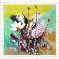 Frameless picture on wall acrylic oil painting abstract drawing flower pictures unique gift paint by numbers abstract loutes