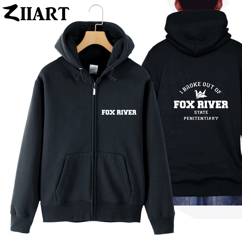 prison break Paper Crane i broke out of Fox River state penitentiary couple clothes boy man male full zip hooded Coats Jackets