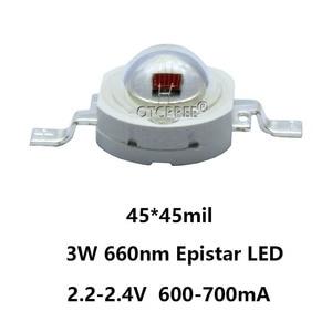 Image 2 - Lampe LED COB SMD, rouge profond, 660nm, pour culture de plantes et fruits, 100 pièces, éclairage pour culture de plantes, 3W, puce LED pièces