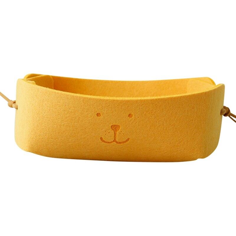 Конфетная коробка, цветная, с милым рисунком собаки, войлок, нордическая, маленькая корзина для хранения ключей, складная, офисный стол, товары для дома, для прихожей - Цвет: Y