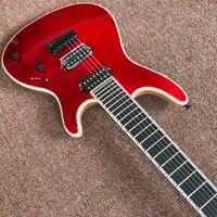 Mayones guitar mayones regius red 7 string electric guitar neck through guitar custom shop seymour duncan p Real photo shows