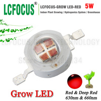High Power LED Chip 5W Deep Red 660nm 630nm Diode COB Hydroponics Tent Plant Vegetable Fruit