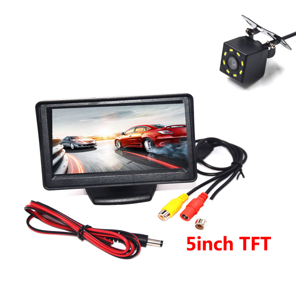 BYNCG Car Rear View Camera Reversing Parking System Kit 5