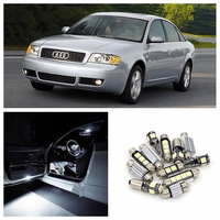 21pcs Canbus Car White LED Light Bulbs Interior Package Kit For 1998-2004 Audi A6 C5 Map Dome Glove Box License Plate Lamp