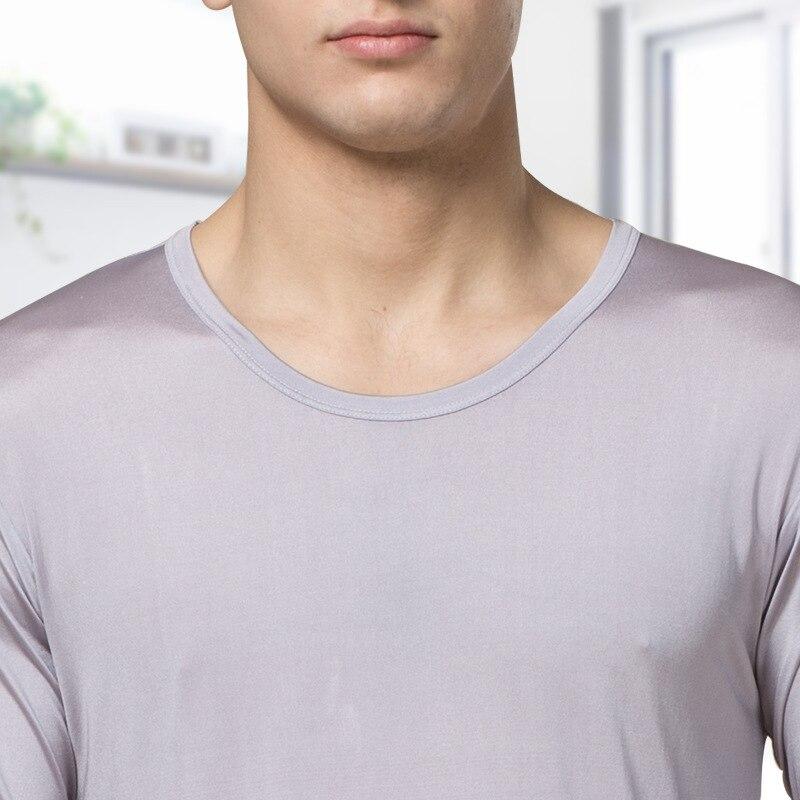 100% natural Silk long johns, Autumn And Winter, High grade Silk, Breathable Thin Underwear, Warm Underwear, Men's Big Code. - 2