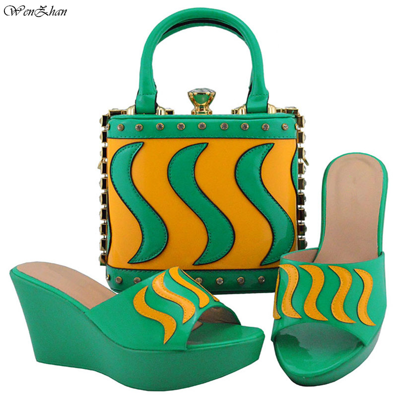 Wonderful matching Italian shoes and bag set for evening party in green open toe sandals and clutch bag 38-42 WENZHAN B810-23Wonderful matching Italian shoes and bag set for evening party in green open toe sandals and clutch bag 38-42 WENZHAN B810-23