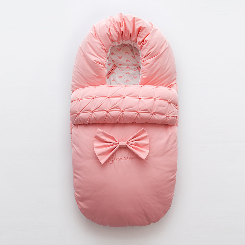 Newborn Autumn & Winter Sleeping Bag Cotton Thick Swaddle Blanket Wrap Bedding Baby Sleep Sack Cute Bowknot Baby Warm Sleepsacks цена