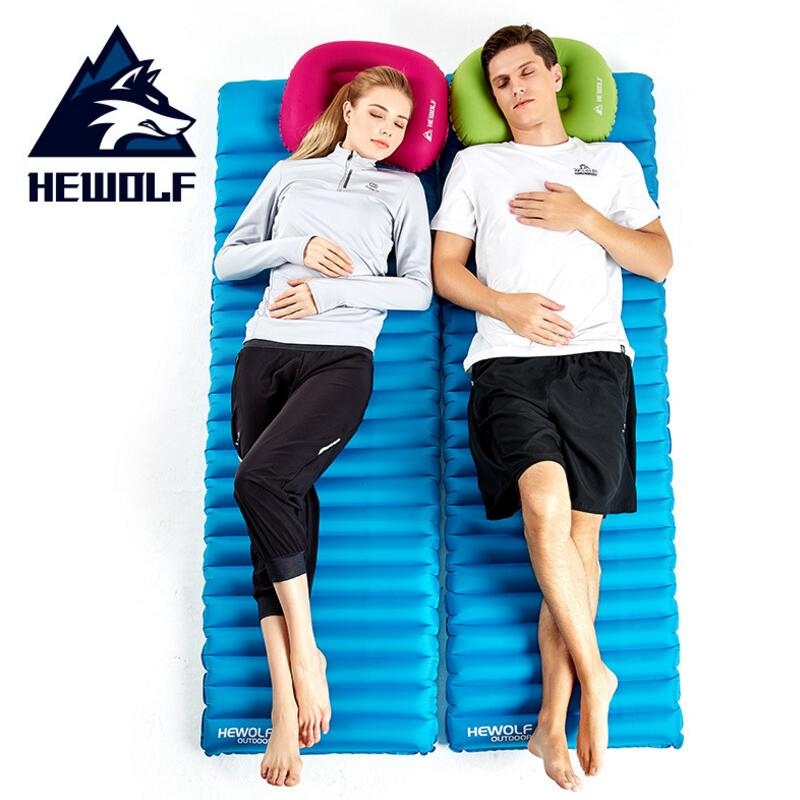 Hewolf Thick 8.5cm Camping Air Mat Ultralight Inflatable Mattress Outdoor Picnic Beach Mat Airbed Portable Sleeping Mattress