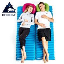 Hewolf Thick 8.5cm Camping Air Mat Ultralight Inflatable Mattress Outdoor Picnic Beach Mat Airbed Portable Sleeping Mattress цена 2017