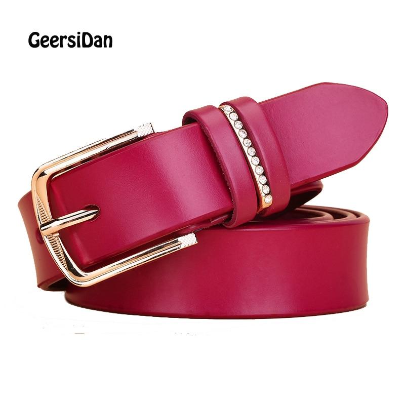 GEERSIDAN Nuevo Diseñador de la Mujer Cinturones de Moda de Cuero - Accesorios para la ropa