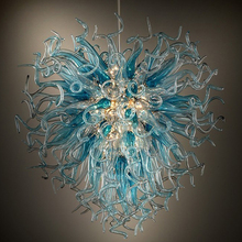 New 2018 AC Beautiful LED Bulbs Hand Blown Murano Glass Chandelier Handmade Modern Ceiling