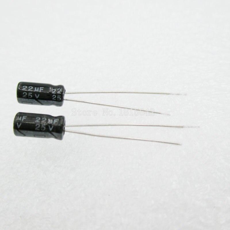 20PCS/LOT 22uF 25V Aluminum Electrolytic Capacitor 4*7 Electrolytic Capacitor 25v 22uf