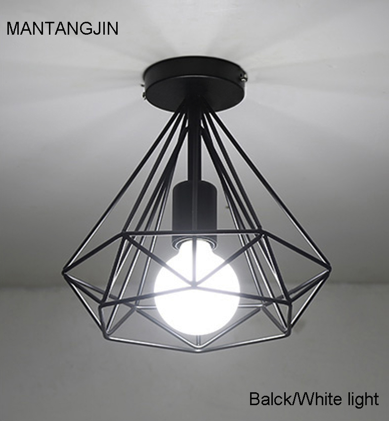 modern black birdcage ceiling lights iron minimalist retro ...