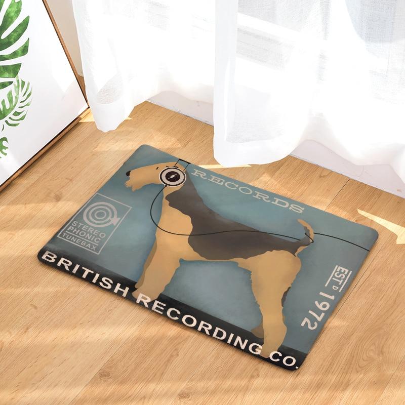 New Anti-Slip Carpets Cartoon Character Dog Print Mats Bathroom Floor Kitchen Rugs 40x60or50x80cm