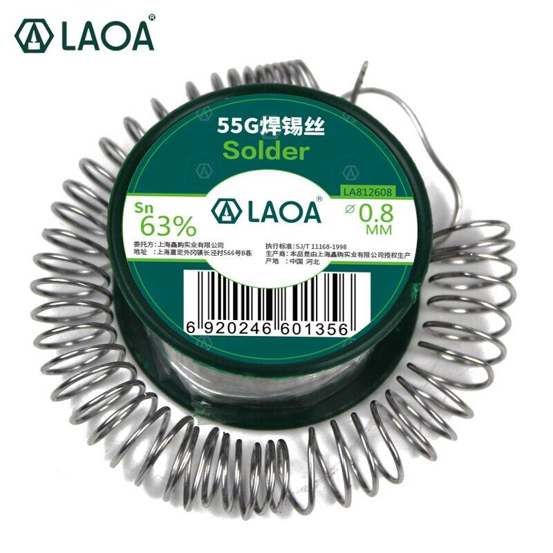 LAOA 63% Contenuto di Stagno 55g Saldatura A Filo in Fili per Saldatura 0.8mm Saldatura Asistant Filo di Stagno