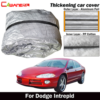 Cawanerl Three Layer Thick Car Cover Outdoor Sun Rain Snow Hail Protection Cover Waterproof For Dodge Intrepid