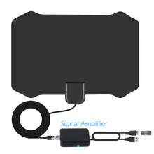 Indoor TV Antenna 200 Miles Freeview 25DB Digital HDTV Antenna with Amplifier Signal Booster Antennas DVB-T2 TV Aerial High Gain ycdc high gain amplifier mini 5 dbi black tv coaxial male connector tv freeview hdtv antenna for dvb t digital tv receiver