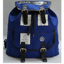 Doctor Who Canvas Printed Anime Dr Who Tardis buckle slouch Children School bag mochila feminina Public Call Police Box Backpack