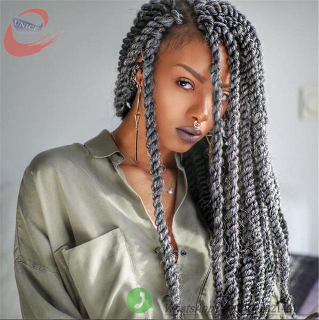 Aliexpress.com : Buy GREY 2X Havana Mambo Twist hair