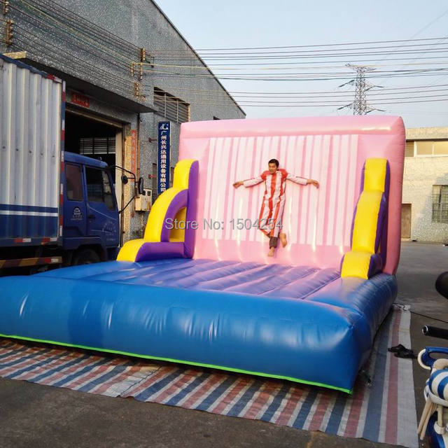 Free Shipping 4x5m Inflatable Wall Sticky Wall Including 2 suits+1carry bag+1 CE/UL air blower inflatable games