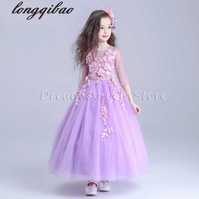 ФОТО Top quality girls dress costumes princess tutu dress child wedding dress flower fairy