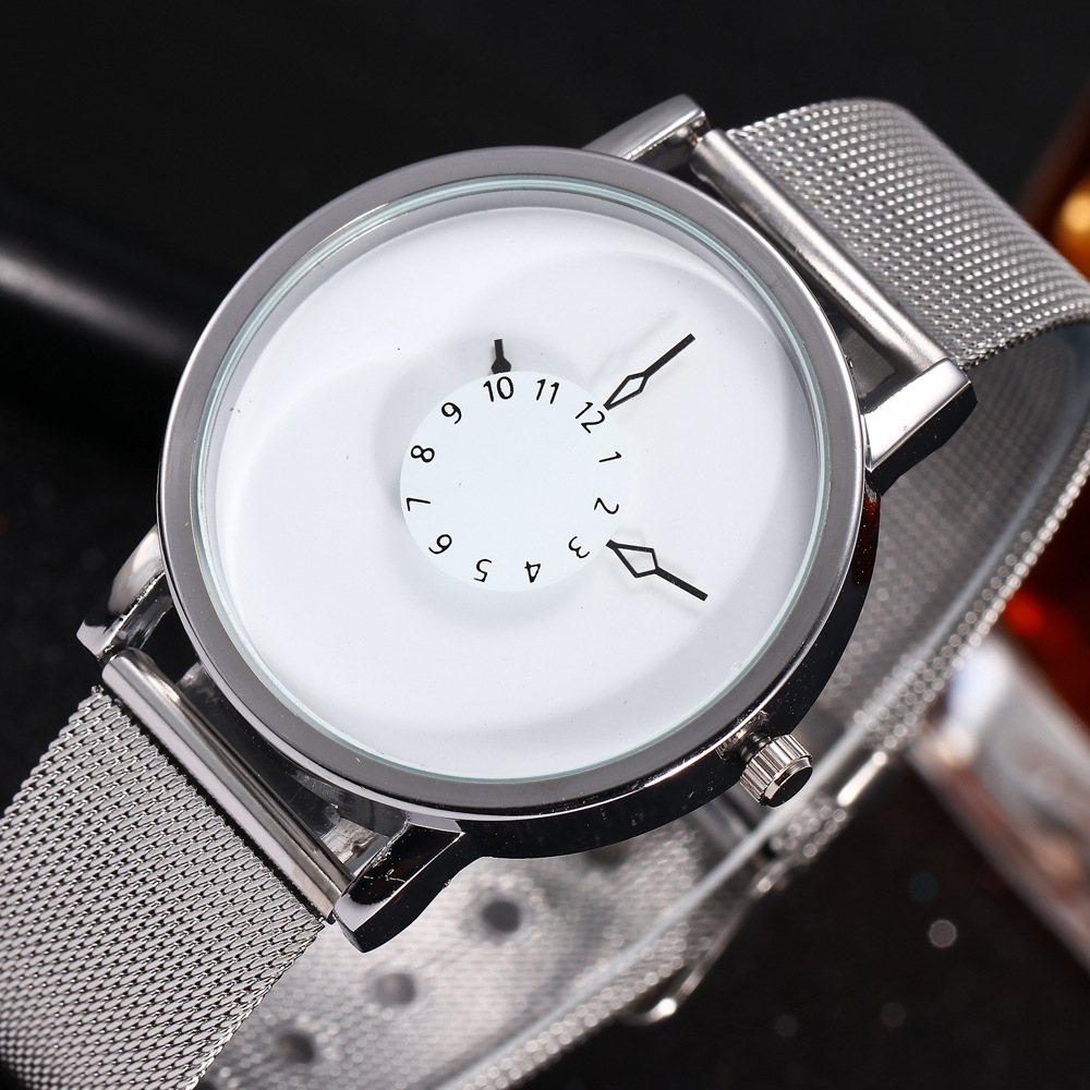 2018 New Hot Sell Fashion Brand Women Men Unsex Lover Mesh Steel Wrist Watch Popular Style Quartz Watches Casual Unique Designer