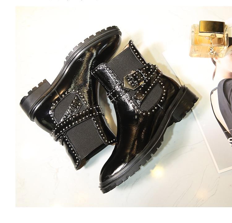 As Con Hebilla Diseño Mujer Remaches Negro Botas Metal Pie as flock De  Inside Tobillo Embellecido Estilo Pic Cinturón ... 0a6f62c90c92