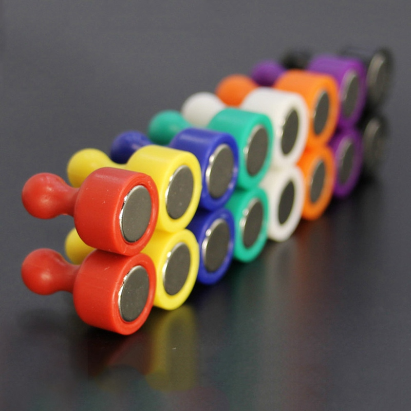 10X Colorful Magnets Round magnets Super Magnet pinboard Office thumbtack Fridge