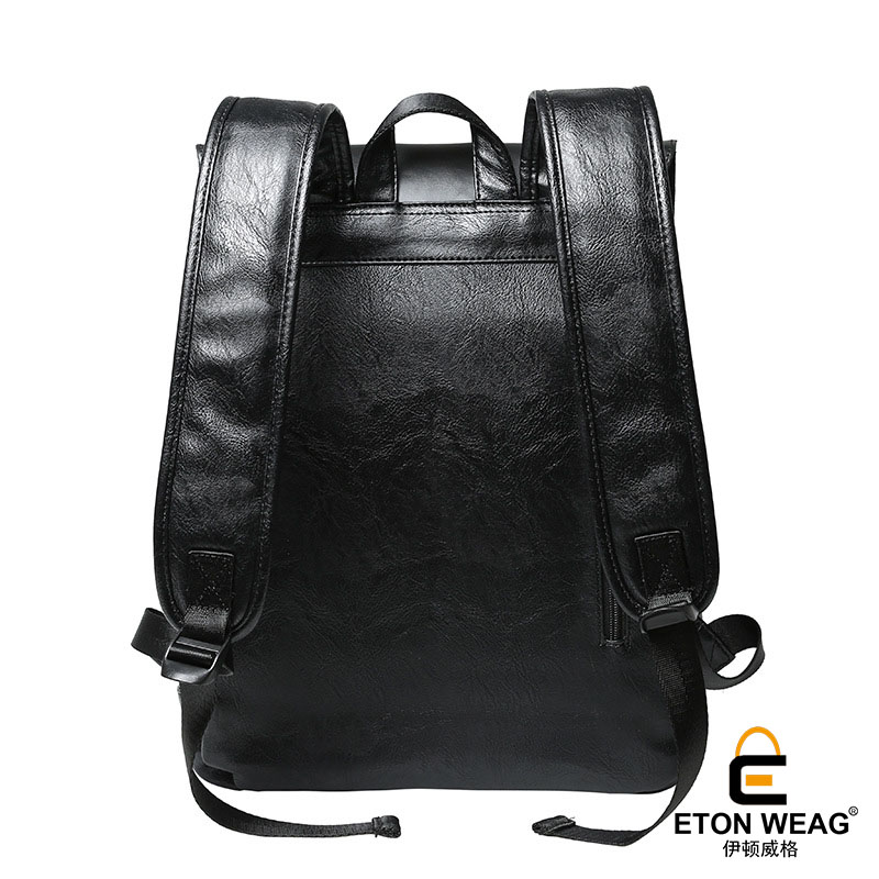 4e8f67b8f511 ETONWEAG Brands Cow Leather Backpacks For Teenage Girls Black Fashion  School Bags For Women 2018 Cover Travel Luggage Laptop Bag-in Backpacks  from Luggage ...