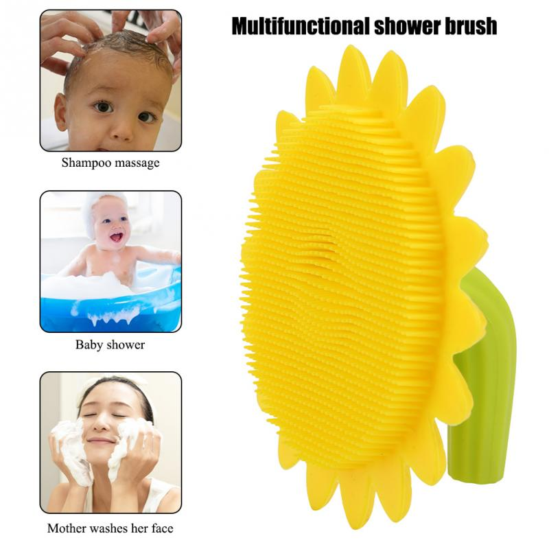 New Infant Baby Soft Silicone Hair Comb Face Cleaning