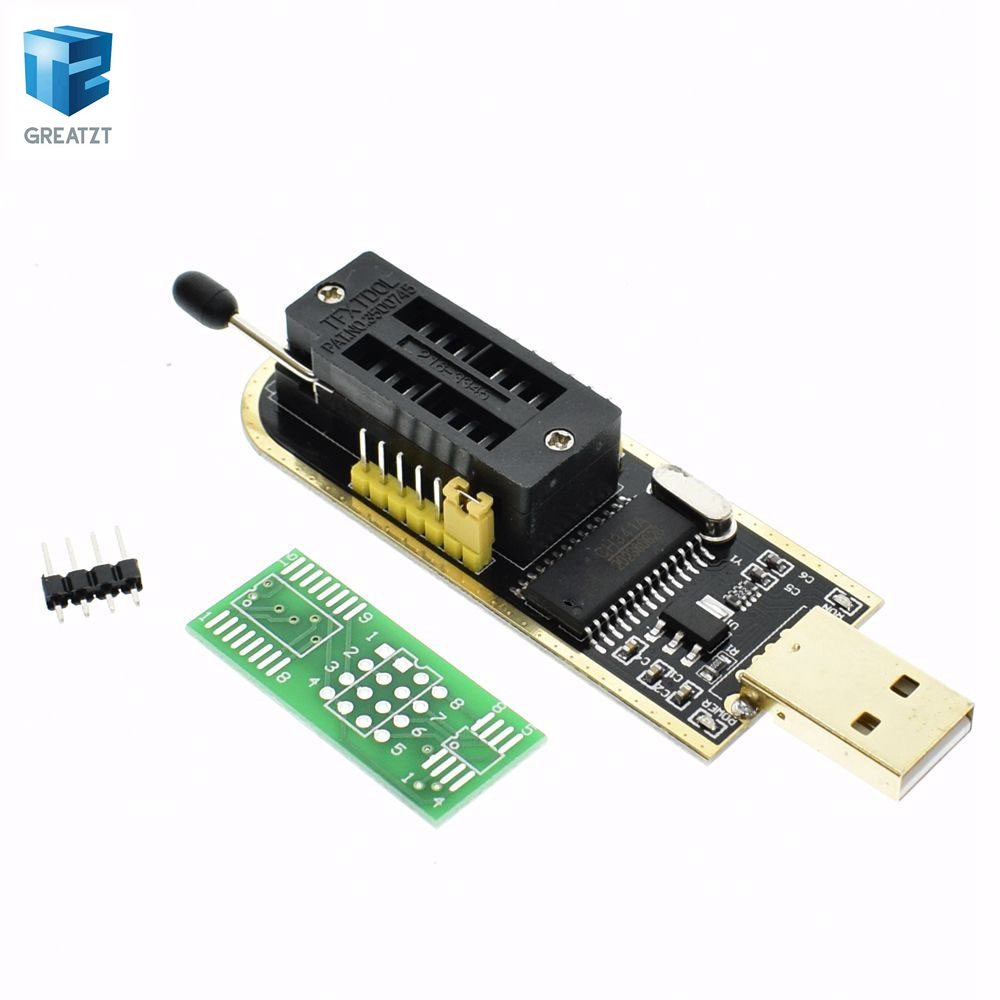 1pcs Smart Electronics CH340 CH340G CH341 CH341A 24 25 Series EEPROM Flash BIOS USB Programmer with Software & Driver electronics