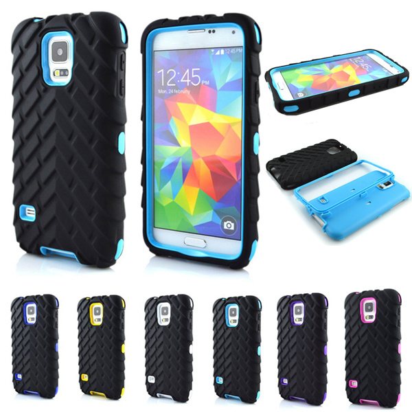 S5 Tire Type Dual Layer Case For Samsung Galaxy S5 S 5 SV I9600 5.1