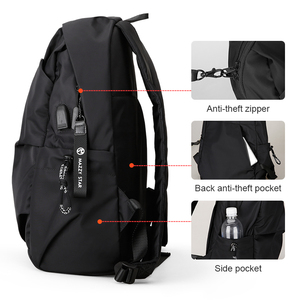 Image 5 - Mazzy Star 새 학교 패션 남자 배낭 가방 방수 배낭 남자 외부 USB 충전 가방 MS_936
