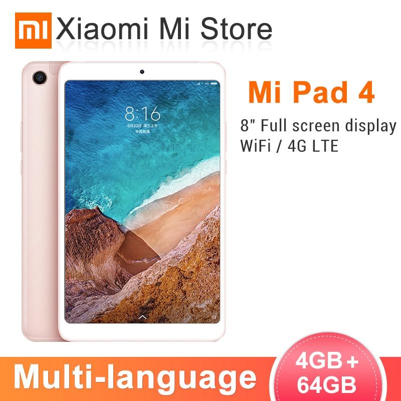 Tablette d'origine Xiao mi mi Pad 4 PC 8.0 1920x1200 FHD mi UI 10 tablettes Snapdragon 660 Octa Core double WiFi 13MP + 5MP caméra 6000 mAh