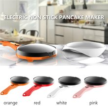 Non Stick Electric Crepe Maker Pancake Pizza Baking Pan Frying Griddle Machine Kitchen Cooking Tools Appliance 600W 220V 18cm