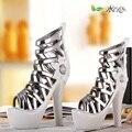 Exclusivos de cerâmica porcelana de alta-sapatos de salto alto decoração vaso feito em Jingdezhen