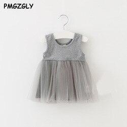 Meninas Crianças Vestidos Infantis Vestido de Renda da princesa 0-3 Ano 1 Recém-nascidos de Verão Princesa Vestido Da Menina Do Bebê de Aniversário do Ano roupas de festa