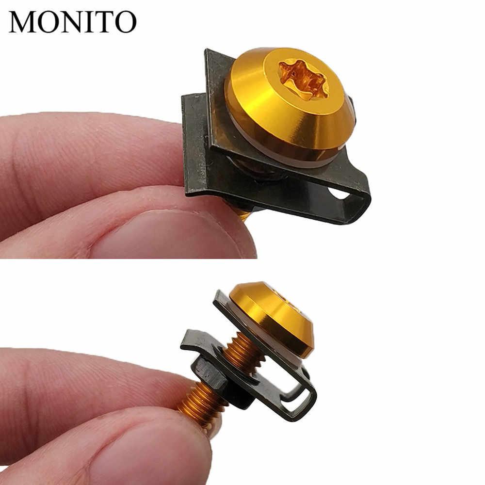 10 piezas CNC para DUCATI Monster M600 M620 M750 M900 Scrambler 1100 tornillos de carenado de motocicleta pernos
