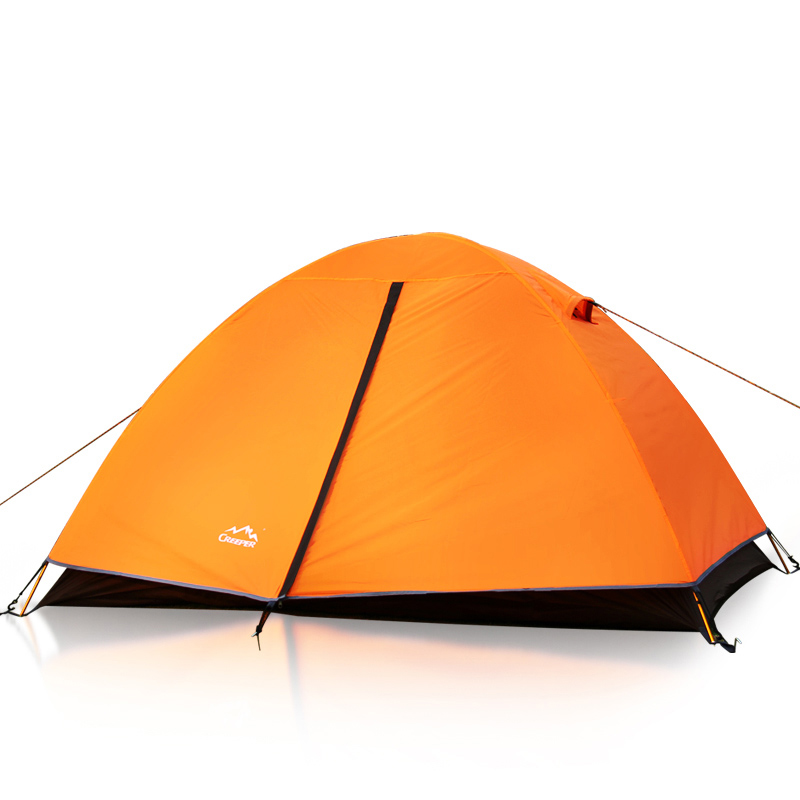 2 person Portable Outdoor aluminum alloy poles tents Double Layer Waterproof Ultra-light camping hiking Double tents orange outdoor 2 person 20d silica gel coating waterproof double layer tent aluminum rod portable ultralight camping tents pu4000mm