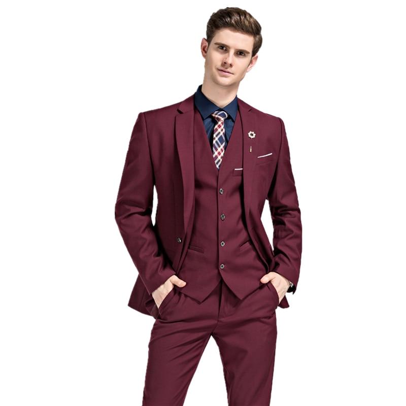 2017 új évszakok stílusos férfi három darab öltöny divat - Férfi ruházat