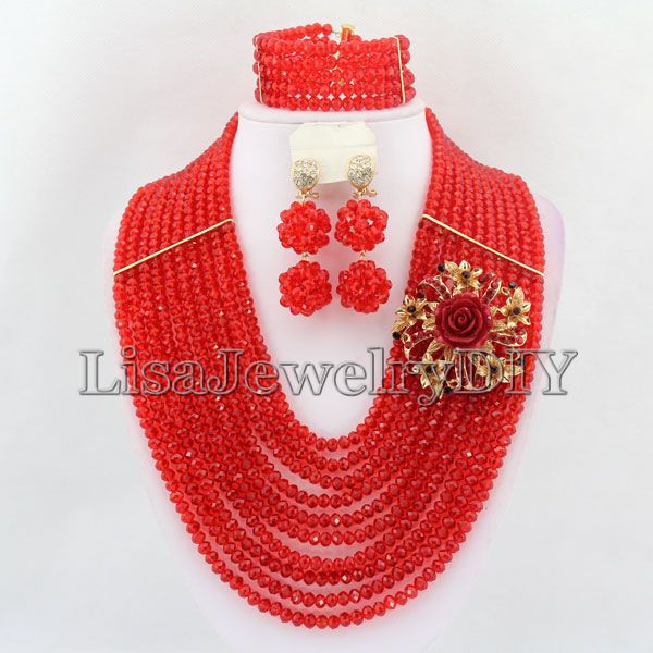 New Arrival Nigeria Crystal Beads Jewelry Sets African Bridal Wedding Beads Jewelry Sets HD3965New Arrival Nigeria Crystal Beads Jewelry Sets African Bridal Wedding Beads Jewelry Sets HD3965