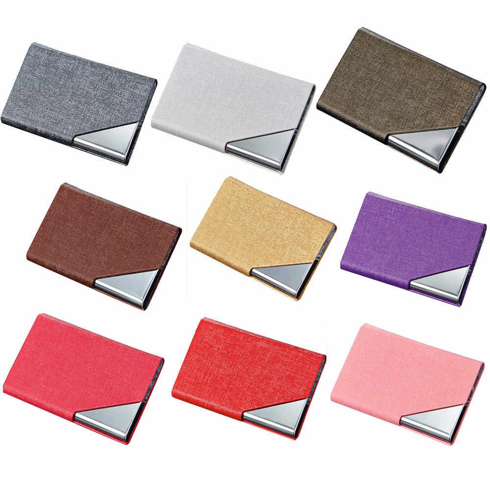 Porte-carte de crédit en métal automatique Vintage portefeuille en aluminium PU cuir antivol Rfid blocage portefeuille porte-monnaie porte-porte # H15